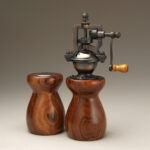Antique Style Pepper Mill and Salt Shaker Set in Cebil 1