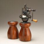 Antique Style Pepper Mill and Salt Shaker Set in Cebil 3