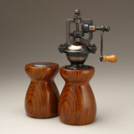 Antique Style Pepper Mill and Salt Shaker Set in Cocobolo 1