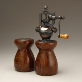 Antique Style Pepper Mill and Salt Shaker Set in Cocobolo 2