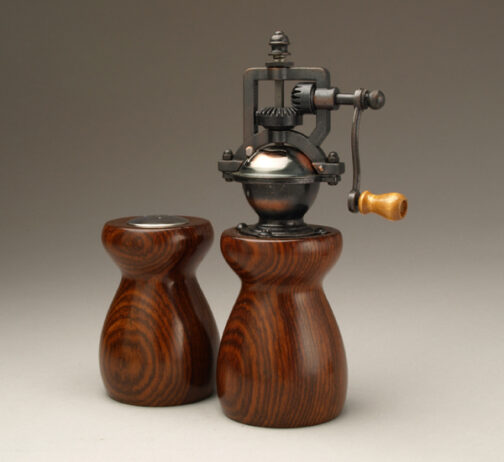 Cocobolo 2 Salt Shaker and Pepper mill set by Ted Sokolowski