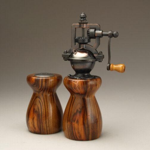 Jobillo 3 Salt Shaker and Pepper mill set by Ted Sokolowski
