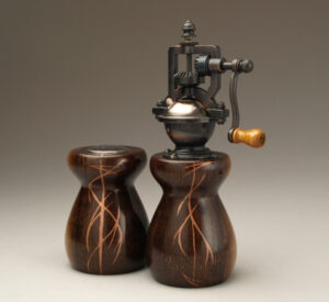 Wenge Salt Shaker and Pepper mill set by Ted Sokolowski