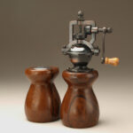 Antique Style Pepper Mill and Salt Shaker Set in Cocobolo 4