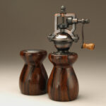 Antique Style Pepper Mill and Salt Shaker Set in Cocobolo 5