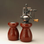 Antique Style Pepper Mill and Salt Shaker Set in Paduak