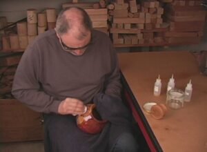 Ted Sokolowski French Polishing a Red Cedar Vase