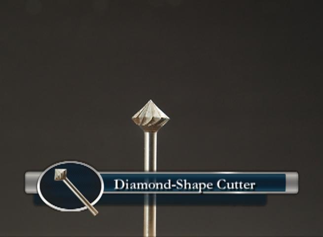 Diamond Shape Wood Carving bit for Metal Inlay