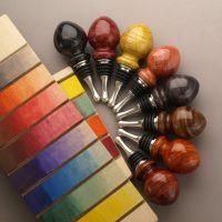 Sample chart of 8 Transtint dye colors