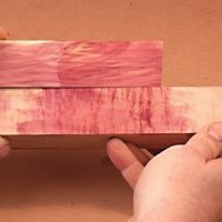 Red Cedar Match on Curly maple on the Mixing and Matching Color DVD